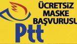 PTT'den 20-65 yaş arasına haftada 5 adet ücretsiz maske.!
